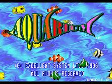 Aquarium (US) Title Screen