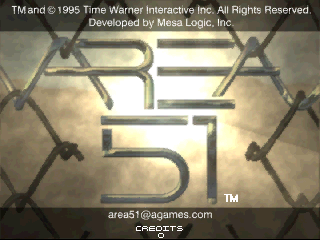 Area 51 (Time Warner license, Oct 17, 1996) Title Screen