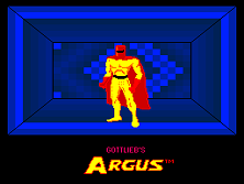 Argus (Gottlieb, prototype) Title Screen