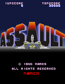 Assault (Japan) Title Screen