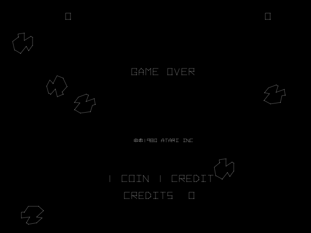 Asteroids Deluxe (rev 1) Title Screen