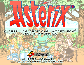 Asterix (ver EAC) Title Screen