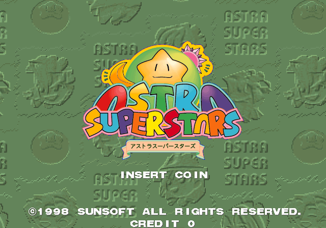 Astra SuperStars (J 980514 V1.002) Title Screen