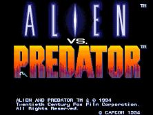 Alien vs. Predator (Euro 940520) Title Screen
