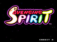Avenging Spirit Title Screen