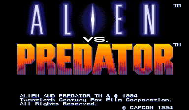 Alien vs. Predator (Japan 940520) Title Screen