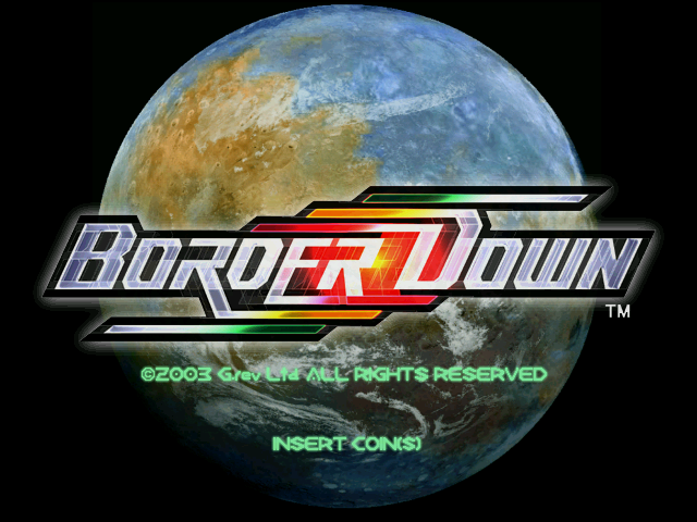 Border Down (Rev A) (GDL-0023A) Title Screen