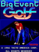 Big Event Golf (US) Title Screen