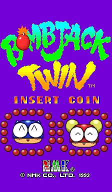 Bombjack Twin (set 2) Title Screen