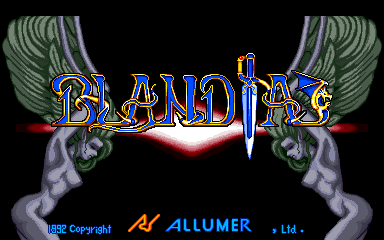 Blandia (prototype) Title Screen
