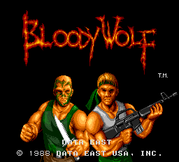 Bloody Wolf (US) Title Screen