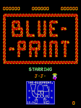 Blue Print (Midway) Title Screen