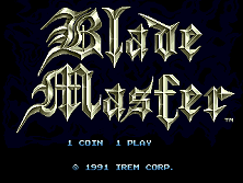 Blade Master (World) Title Screen