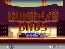 Bonanza Bros (US, Floppy DS3-5000-07d? Based) Title Screen