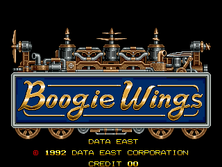 Boogie Wings (Euro v1.5, 92.12.07) Title Screen