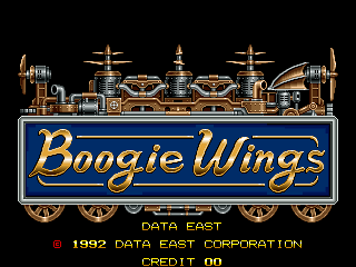 Boogie Wings (Asia v1.5, 92.12.07) Title Screen