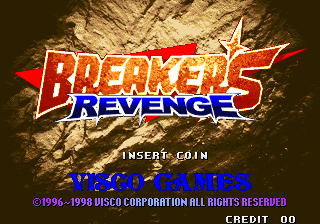 Breakers Revenge Title Screen