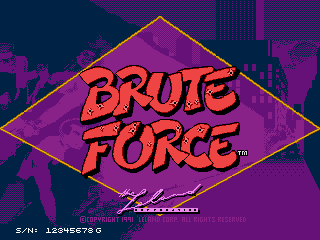 Brute Force Title Screen