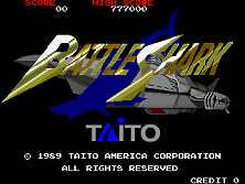 Battle Shark (World) Title Screen