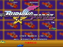 Burning Force (Japan, new version (Rev C)) Title Screen