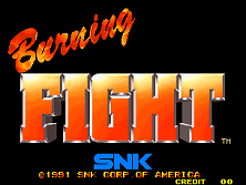 Burning Fight (Set 1) Title Screen