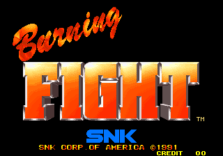 Burning Fight (NGH-018, US) Title Screen