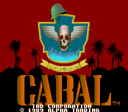 Cabal (Korea?, Joystick) Title Screen