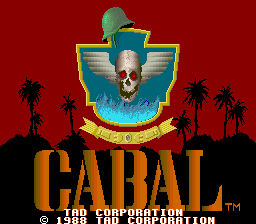 Cabal (bootleg of Joystick version, set 2) Title Screen