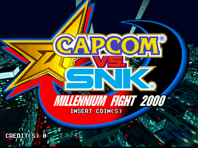 Capcom Vs. SNK Millennium Fight 2000 (Rev C) Title Screen