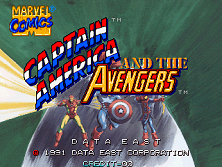 Captain America and The Avengers (Asia Rev 1.4) Title Screen