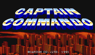 Captain Commando (World 911014) Title Screen