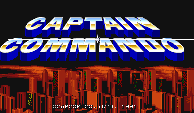 Captain Commando (bootleg) Title Screen