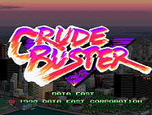 Crude Buster (World FX version) Title Screen