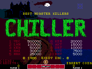 Chiller (version 3.0) Title Screen