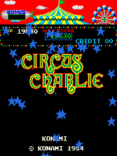 Circus Charlie (level select, set 1) Title Screen