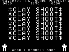 Clay Shoot Title Screen