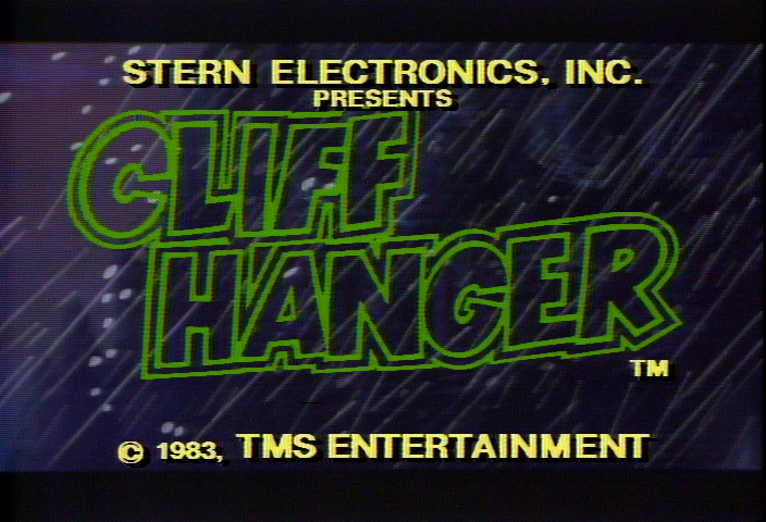 Cliff Hanger (set 1) Title Screen