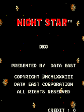 Night Star (DECO Cassette) (US) (set 1) Title Screen