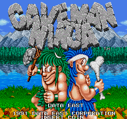 Caveman Ninja (World ver 1) Title Screen