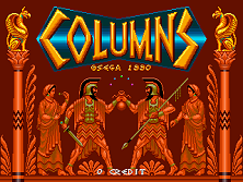 Columns (World) Title Screen