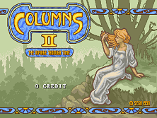 Columns II: The Voyage Through Time (World) Title Screen