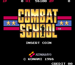 Combat School (joystick) Title Screen
