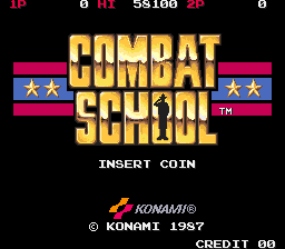 Combat School (Japan trackball) Title Screen
