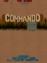 Commando (World) Title Screen