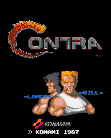 Contra (US / Asia, set 2) Title Screen