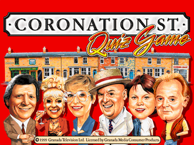Coronation Street Quiz Game Title Screen