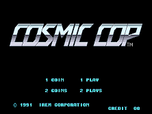 Cosmic Cop (World) Title Screen