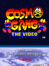 Cosmo Gang the Video (US) Title Screen
