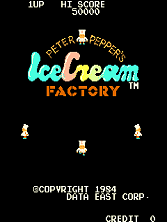 Peter Pepper's Ice Cream Factory (DECO Cassette) (US) (set 1) Title Screen