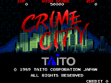 Crime City (World) Title Screen
